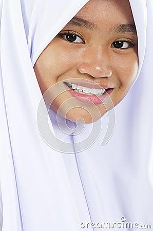 Southeast Asian Muslim girl