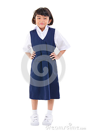Southeast Asian school girl