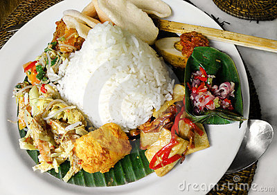 Southeast asian street food platter