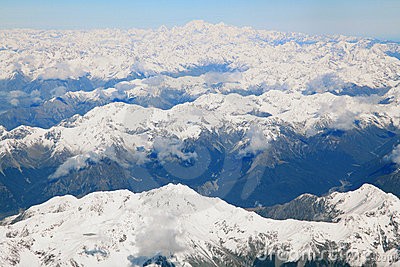 Southern alps with Mount cook