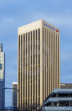 Southern California Bank Of America Editorial Stock Photo