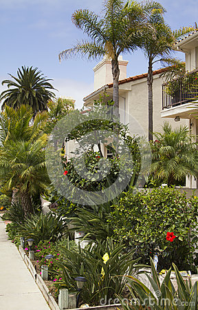 Free Southern California Ocean Beach Houses Royalty Free Stock Photography - 32173387