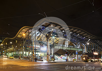 Southern cross rail station in melbourne australia Editorial Photo