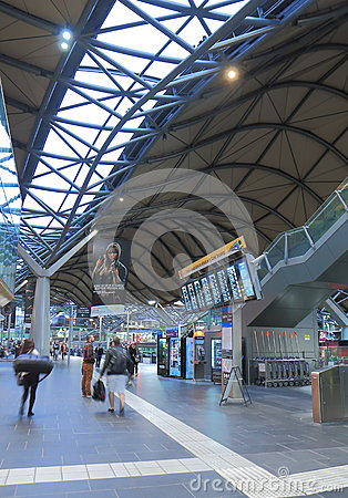 Southern Cross Station Bus terminal Editorial Photography