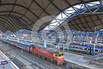 Southern Cross StationBus terminal Editorial Stock Photo