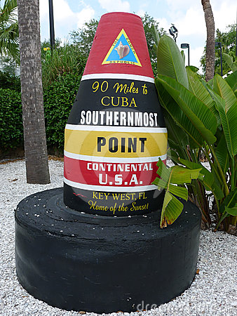 Southernmost Point in Continental U.S.A. Marker Editorial Photography