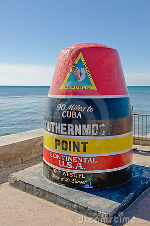 Free Southernmost Point, Key West Stock Photos - 8574723