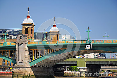 Southwark bridge in London City