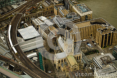 Southwark Cathedral from Above