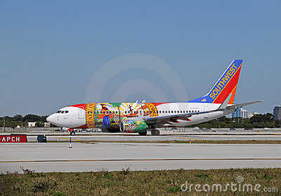 Southwest Airlines Boeing 737-700 jet Editorial Stock Image