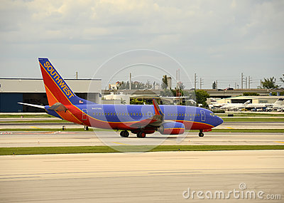 Southwest Airlines Boeing 737 jet Editorial Stock Image