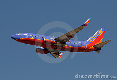 Southwest Airlines jet airplane Editorial Photography