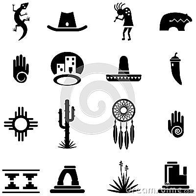 Free Southwest Desert Icon Illustrations Stock Images - 42627514