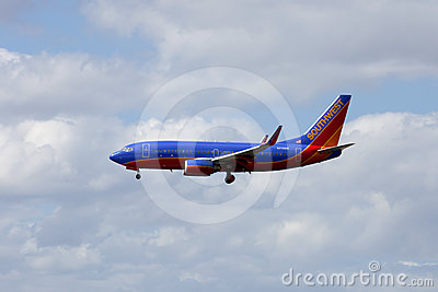 Southwest Passenger Jet Airliner Editorial Photo