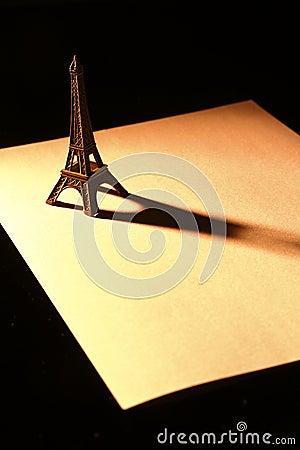 Souvenier Eiffel Tower on paper