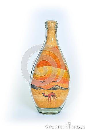 Souvenir bottle.