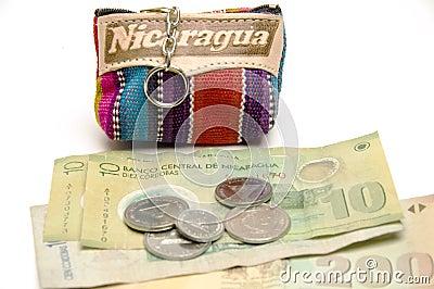 Souvenir change purse coins Nicaragua