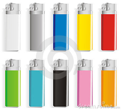Souvenir color lighters