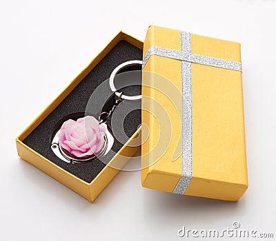 Souvenir keychain ring