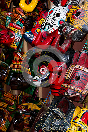 Free Souvenir Masks Stock Photo - 35877170