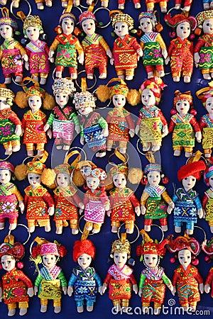 Free Souvenir Miniature Dolls From Laos Stock Photo - 86516270
