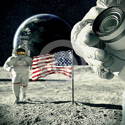 Souvenir  from  moon 3d illustration