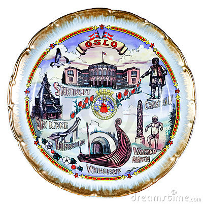 Souvenir plate depicting the Oslo