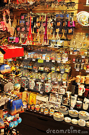 Souvenir shop Editorial Stock Image