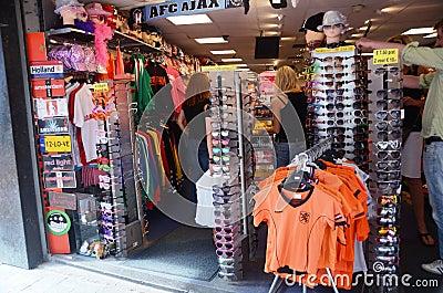 Souvenir shop in Amsterdam Editorial Stock Image