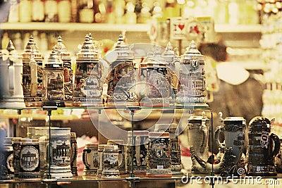 Souvenir shop in Berlin Editorial Stock Photo