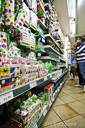 Souvenir shop in Dublin Editorial Stock Image