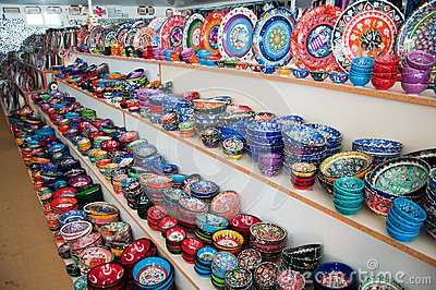 Souvenir shop in Turkey