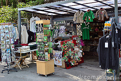 Souvenir stall in ireland Editorial Image