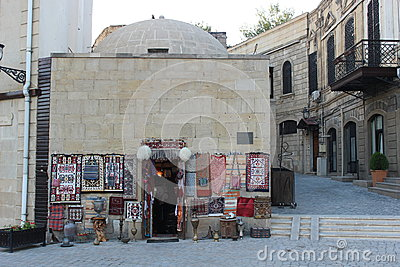 Souvenir stand in Baku old town Stock Photo