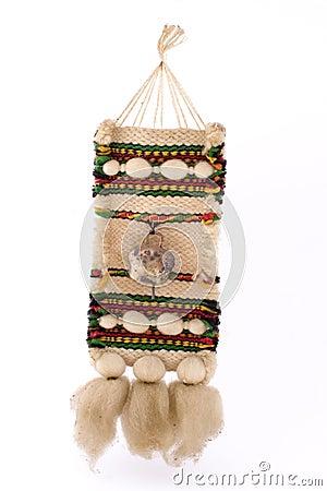 Souvenir of woven fabric