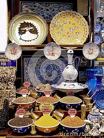Souvenirs of Istanbul Grand Bazaar