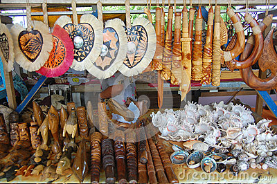 Souvenirs at market