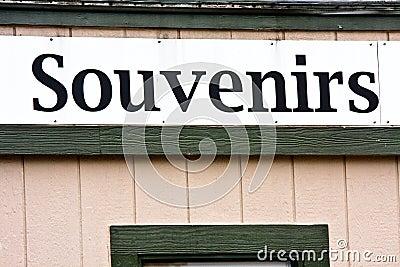 Souvenirs Sign