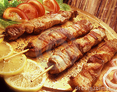 Souvlaki on a skewer