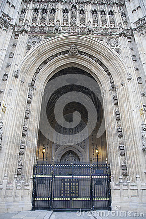 Sovereigns Entrance, Houses of Parliament; Westminster; London