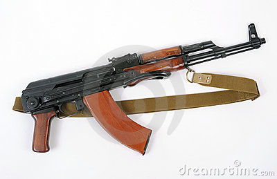 Soviet AKMS (AK47) assault rifle