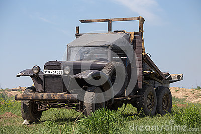 Soviet army truck GAZ Editorial Image
