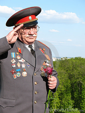 Soviet Army veteran of World War II Editorial Stock Image