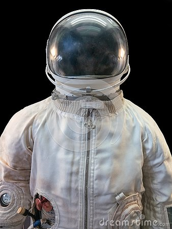 Free Soviet Cosmonaut Or Astronaut Or Spaceman Suit And Helmet On Black Background Royalty Free Stock Photo - 125336165