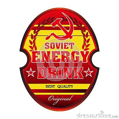 Soviet energy drink label