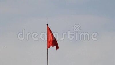 Soviet flag in Minsk stock video footage