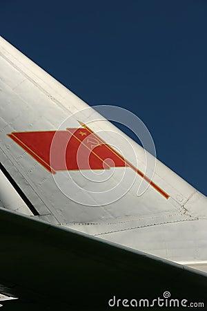 Soviet flag on a tail fin