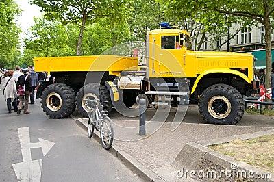 Soviet heavy truck KrAZ-255 Editorial Image