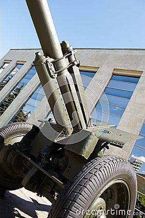 Soviet howitzer in museum