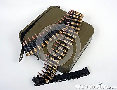 Soviet machine gun ammo